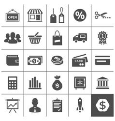Startup business icons set - Simplus series vector image vector image