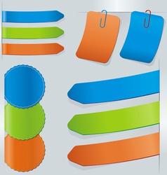 stick color set vector image vector image