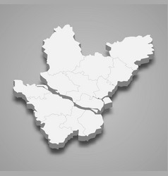 3d isometric map dhaka is a division of vector