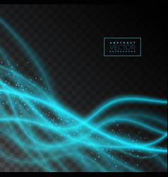 Abstract shiny light effect texture on transparent vector