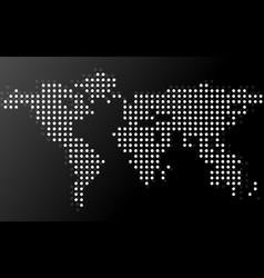 abstract world map of dots vector image