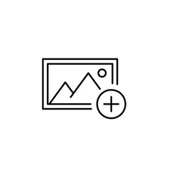 Add album picture outline icon signs and symbols vector