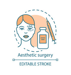 aesthetic surgery concept icon vector image
