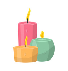 aromatic candles flat vector image