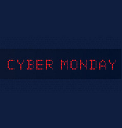 banner cyber monday vector image