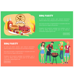 bbq party collection of web vector image