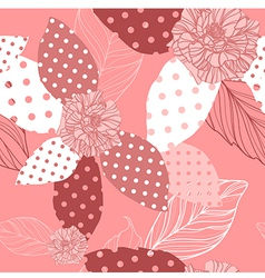 Beautiful seamless pink pattern with roses vector