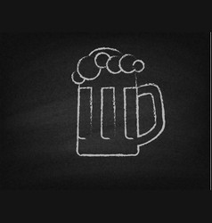 Beer mug on a chalkboard vector