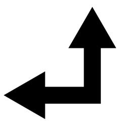 Bifurcation Arrow Left Up Flat Icon vector