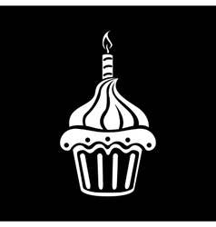 Birthday cake web icon vector image