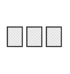 black photo frames empty modern simple image vector image