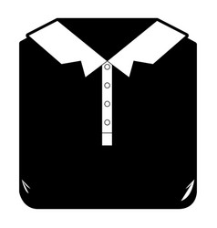 Black sections silhouette of men polo shirt folded vector