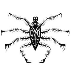 Black spider vector image