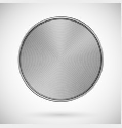 blank medal metallic template silver vector image