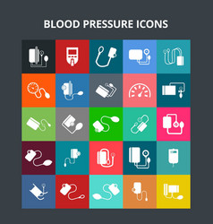 Blood pressure icons vector