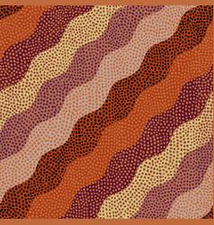 brown tribal background of random polka dot vector image