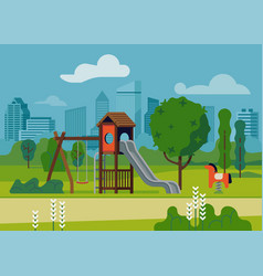 children play area in park vector image