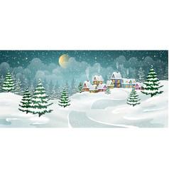 Christmas winter village vector