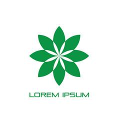 circle leaf eco logo vector image