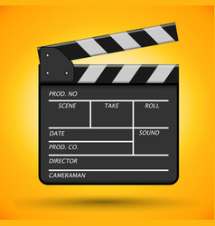 Clapperboard device for using in cinematography vector