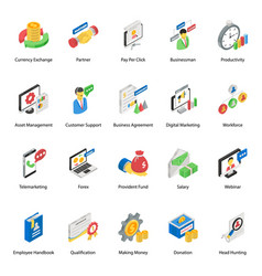 Corporate management in modern isometric style vector