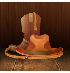 Cowboy symbol poster vector image