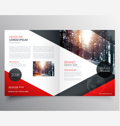 Creative red and black bifold brochure or vector