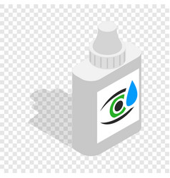 Eye drops isometric icon vector