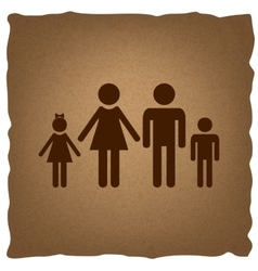 Family sign Vintage effect vector image