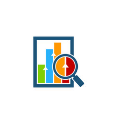 find stock market business logo icon design vector image