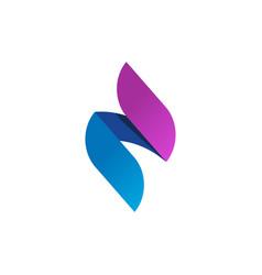 flame logo gradient spear logotype idea vector image