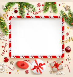 flat lay frame vector image