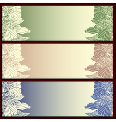 Floral label templates Eps 8 vector image
