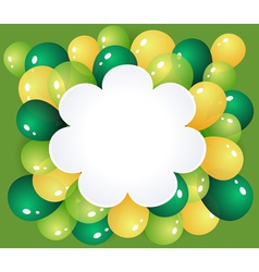 Flower frame with balloons vector image