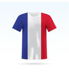 france flag t-shirt vector image