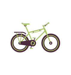 green road bike modern bicycle vector image