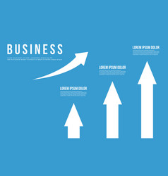 Growth arrow business infographic design vector