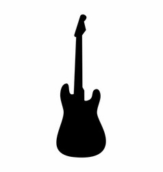 guitar dark silhouette vector image