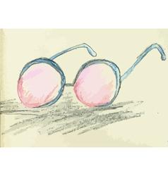 Hand Drawn Glasses vector image