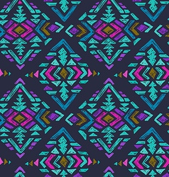 Hand drawn seamless pattern with tribal abstract vector