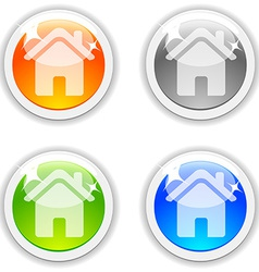 House buttons vector