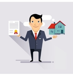 House Insurance Contract vector