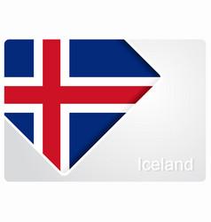 Icelandic flag design background vector