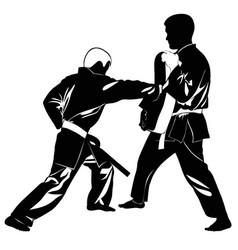 Image martial arts athletes vector