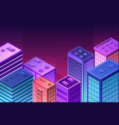 isometric icon of a city vector image