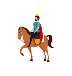 king fairytale in horse avatar character vector image
