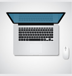 laptop top view vector image