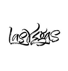 las vegas modern calligraphy hand lettering vector image