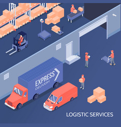 logistic services isometric vector image