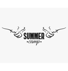 Marshmallow Summer Camp Badge vector image